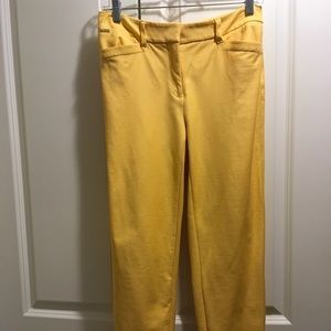 Gold Slim Ankle Pants Size 4